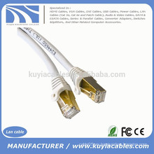 Oro 1M 3FT CAT 7 SFTP LAN Cable de red Ethernet directo Patch Blindado 10 Gbps RJ 45