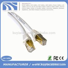 Gold 1M 3FT CAT 7 SFTP LAN Cabo de rede Ethernet direto Patch blindado 10Gbps RJ 45