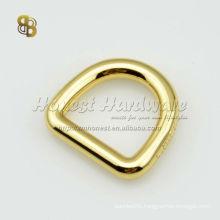 metal bag d ring in gold