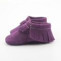Roland Purple Suede Leather Baby Soft Moccasins
