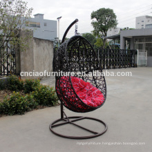 Outdoor furniture knock down hanging chair with stand