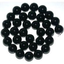 12 Мм черный оникс круглые бусины 16»