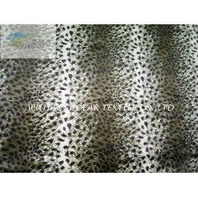 Leopard impresso padrão tecido Plush