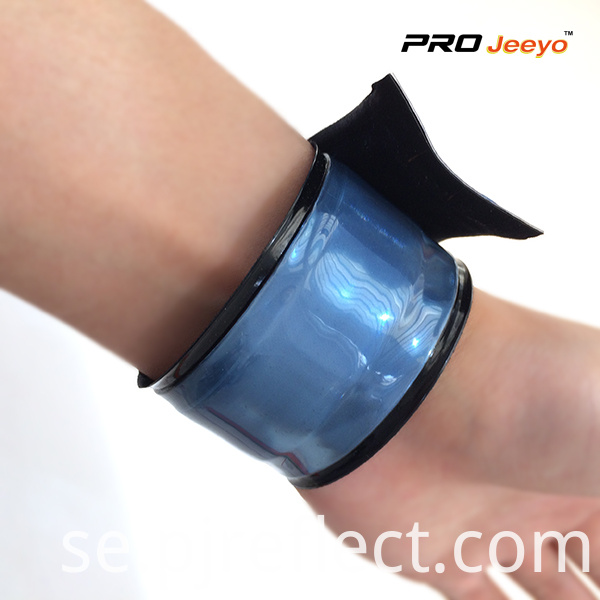 Wb Mid004 Fluorescence Steel Blue Safety Hi Vis Wristband