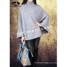 Ladies′ 100% Cashmere Computer Knit Cape