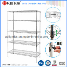 Chrome Double-Face Wire Mesh Display Metal Rack (HD481872A5C)