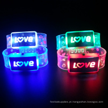 Bracelete leve conduzido eletrônico personalizado da carta de amor