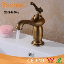 Mélangeur de robinet d'eau de bassin de salle de bains de mitigeur antique de robinet de cuivre
