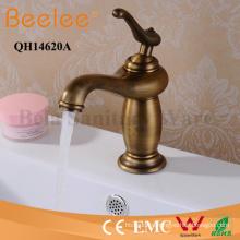 Antique Copper Faucet Single Handle Bathroom Basin Water Tap Mixer
