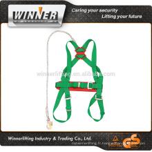 Échantillon gratuit full body harnais de sécurité avec une lanière