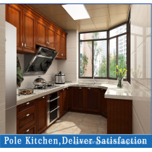 PVC Solid Wood Veneer Kitchen Cabinets