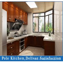 Gabinetes de cozinha em madeira maciza de PVC