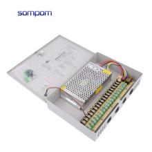 SOMPOM high quality 12V 15A 18CH Power Supply 180W for cctv camera