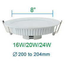 8 Inches Slim LED Down Light with Aluminum and PC Body