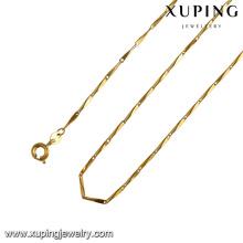 42985-bijoux de mode pas chers fabriqués dans des bijoux de collier en or jaune 14k de porcelaine