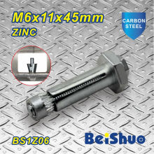 M6X11X45mm Steel Construction Fastener Hex Bolt for Construction