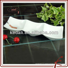 9.5 'white porcelain serving tray