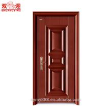 A porta principal de aço projeta portas de madeira inter da entrada de aço da segurança