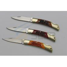 Couteau de verrouillage arrière de poignée d'os de bœuf de 5,5 pouces (SE-471)