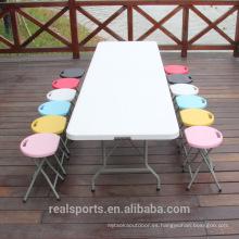 Mesa plegable Niceway Picnic para picnic Mesa plegable plegable de plástico para uso general