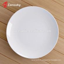 Plaque en céramique en grès blanc de petite commande pour restaurant