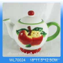 Elegant wholesale high quality ceramic apple tea pot