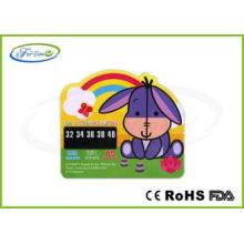 Cartoon LCD Baby Bath Tub Thermometer Card , Flexible PET B