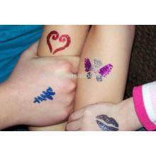 Etiqueta engomada segura del tatuaje de la piel gloriosa papel del tatuaje del polvo del brillo