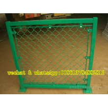 Green Color Chain Link Wire Mesh Fence