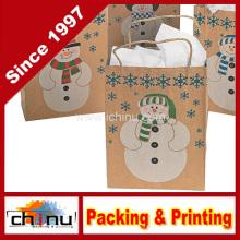 Bolsas de regalo de muñeco de nieve (220114)
