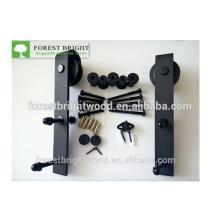 Schwarz pulverbeschichtet Schiebe Scheunentor Hardware