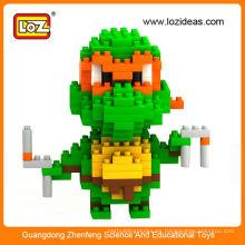 Juguete 2014 del juguete 2014 del bloque hueco del diamante de Miguel Ángel de la colección clásica caliente de las tortugas de Ninja del mutante