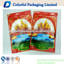 5kg high quality matt rice packaging bag plastic bags for food packaging