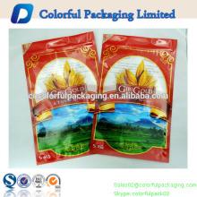 Sacos de plástico de alta qualidade do saco de empacotamento do arroz de 5kg matt para o empacotamento de alimento