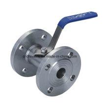Válvula de bola de brida 1PC de fundición inoxidable