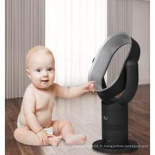ventilateur à pales cachées pour bébé, moteur à courant continu, ventilateur sans lame, 10 pouces