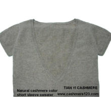 Cashmere Color Natural Sweater BV Manga corta