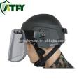 IIIA viseira protetora balística do capacete de cara aberto tático militar, viseira balístico do protetor de cara