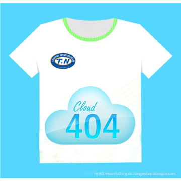 Art 100% weiches Baumwolllange Hülsen-Taschen-T-Shirt