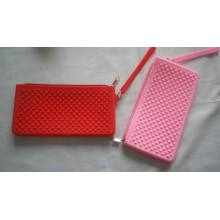 Ladies Zipper Silicone Coin Purse 9 inches