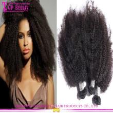2016 En Gros Top Qualité Mongol Afro Crépus Extensions de Cheveux Humains Full Cuticle Afro Crépus Bouclés Tressage Cheveux