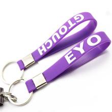 Échelle faite sur commande de Keychain de bracelet de silicium faisant des approvisionnements importés de la Chine