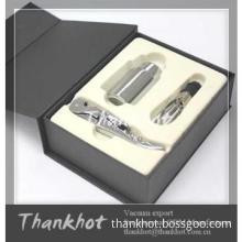 Hot sale Bar set accessories with bottle saver and opener in gift box