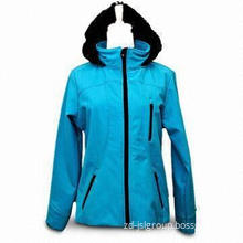 Women's Outdoor Coat, Made of 100% Polyester, Available in Light Blue