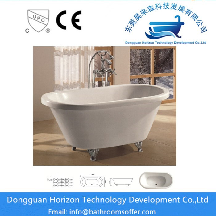 White Freestanding Bathtub