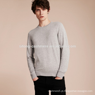 Camisola 100% de cashmere para homens