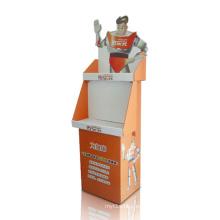 Estante de estantería de exhibición de cartón promocional, exhibición de los compartimientos de la tienda al por menor