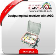 Receptor óptico de saída de 2 vias externo com AGC