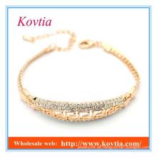 Art und Weise feine Schmucksachen pflastern Kristallgoldarmband 18k