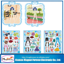 High Quality Novelty Rubber Magnetic Game Dress up Fridge Magnet